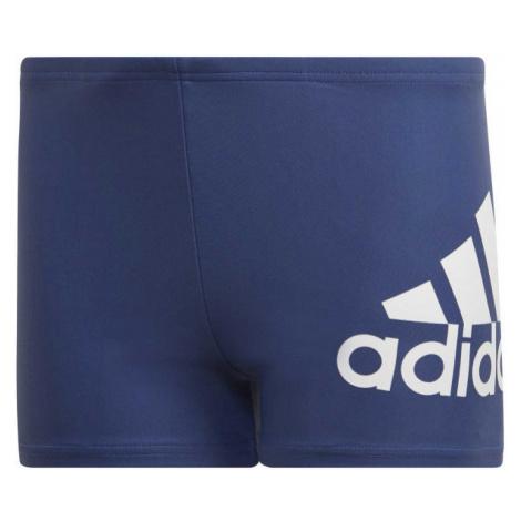 Modré chlapčenské plavky s nohavičkou