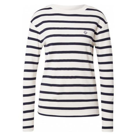 GANT Tričko  biela / námornícka modrá