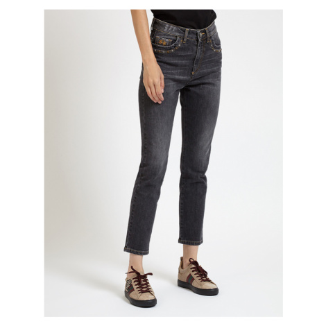 Džínsy La Martina Woman Denim Trouser Black Deni - Čierna