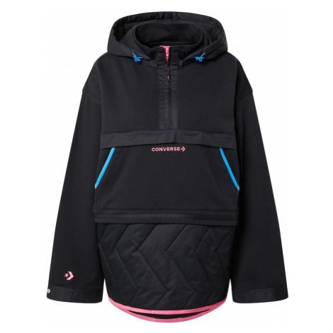 CONVERSE Tepláková bunda  čierna / ružová / tyrkysová