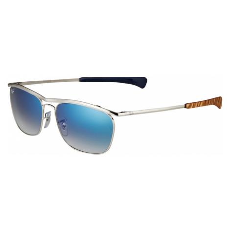 Ray-Ban Slnečné okuliare 'OLYMPIAN II'  strieborná / hnedá / modrá