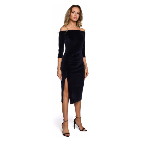 Made Of Emotion Woman's Dress M559 Navy Blue