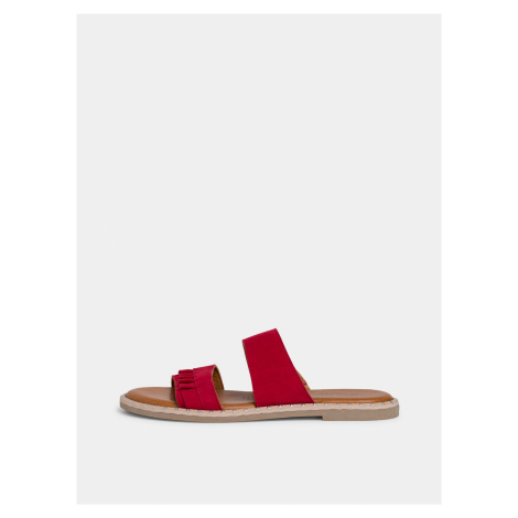 Červené semišové papuče Tamaris