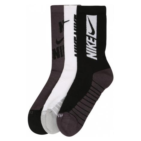 NIKE Športové ponožky 'Everyday Max'  sivá / čierna / biela