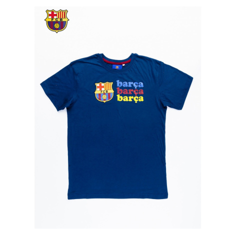 Men´s T-shirt with the FC BARCELONA print in navy blue
