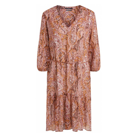SET Košeľové šaty  burgundská / oranžovo červená / biela / staroružová / orchideová