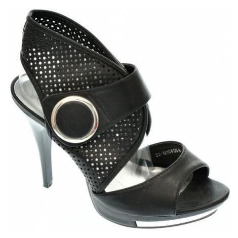 Dámske čierne sandále BORISE MerMaid