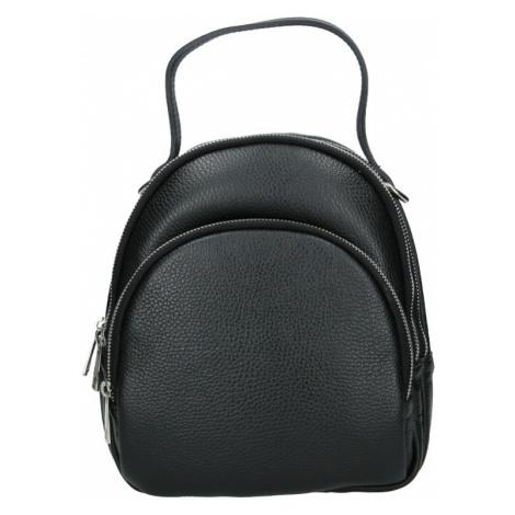 Dámsky kožený batoh Delami Brenda - čierna