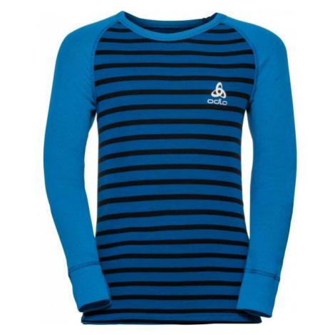 Odlo BL TOP CREW NECK L/S ACTIVE WARM KIDS modrá - Detské tričko s dlhým rukávom