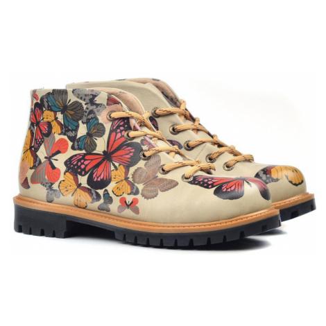 Goby béžové členkové topánky Fly Away