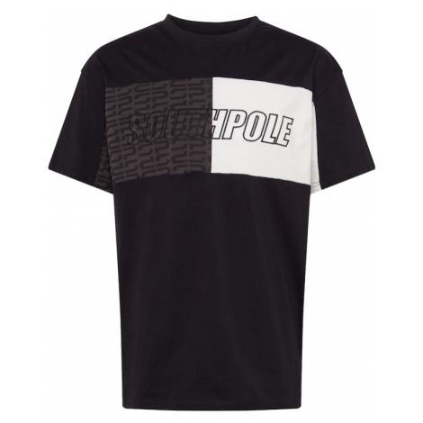 SOUTHPOLE Tričko  čierna / biela