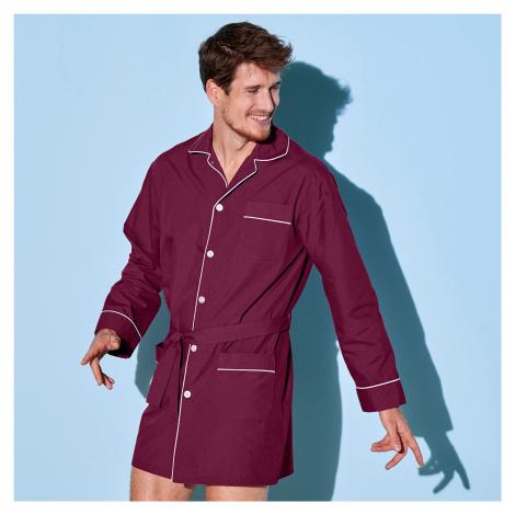Blancheporte Predĺžený pyžamový kabátik bordó