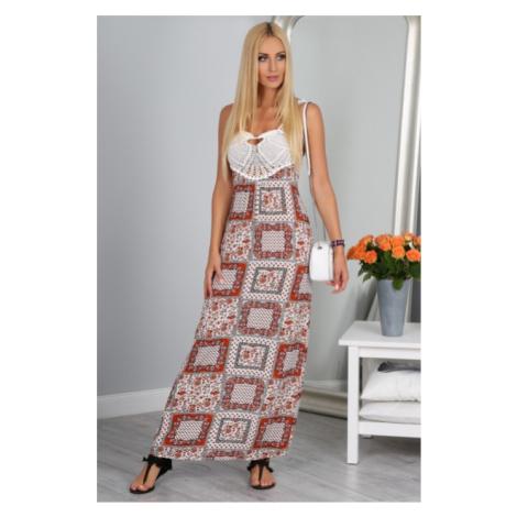 Štýlové dlhé maxi šaty na ramienka FASARDI