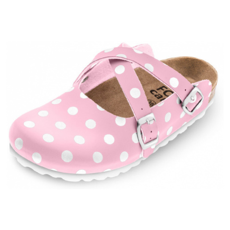 Ružová bodkovaná zdravotná obuv 101020