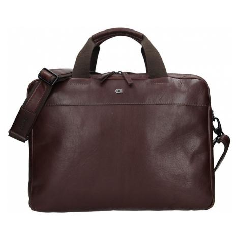 Luxusná pánska kožená taška Daag Martin - tmavo hnedá