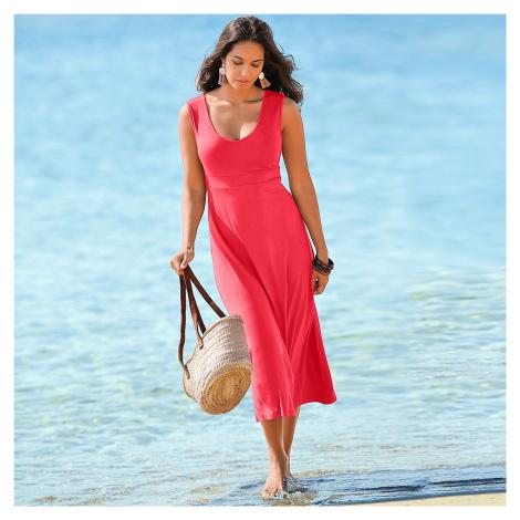 Blancheporte Dlhé jednofarebné šaty koralová
