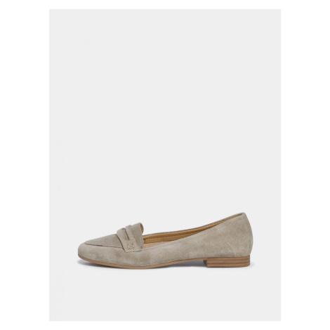 Tamaris beige suede loafers