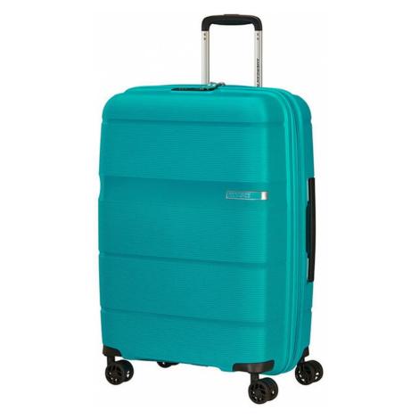 American Tourister Škrupinový cestovný kufor Linex 63 l - tyrkysová