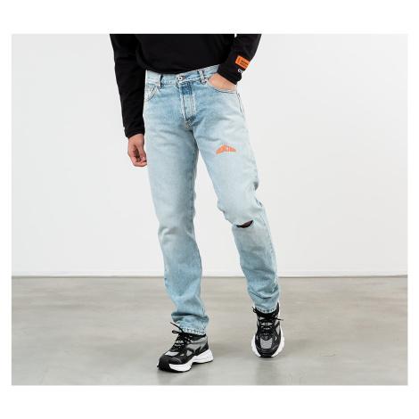 HERON PRESTON 5 Pockets Denim Pants Vintage Wash Blue