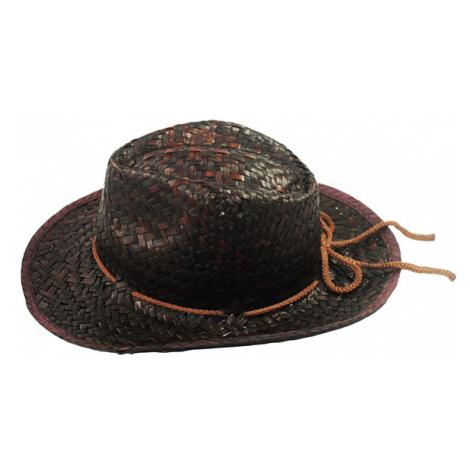 Klobúk z palmového listu Black Cowboy