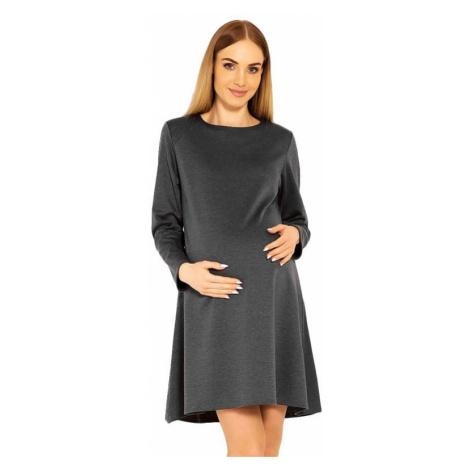 Tehotenské šaty Nathy sivé PeeKaBoo