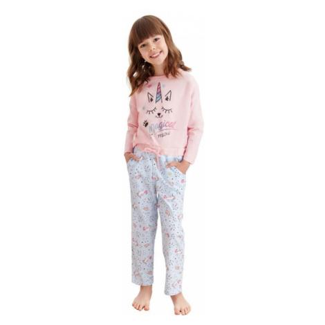 Dievčenské pyžamo Nadia ružové jednorožec Taro
