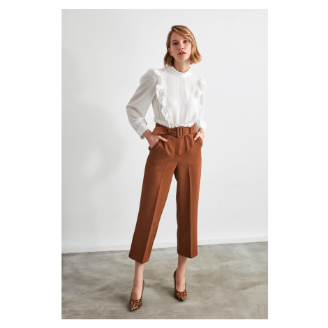 Trendyol Brown BeltEd Trousers
