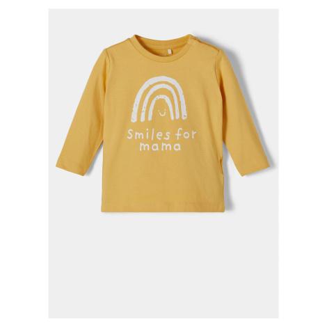 Žlté dievčenské tričko s potlačou name it Daniella