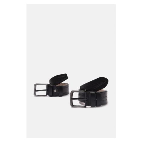 Trendyol Black Men's 2-Piece Faux Leather Belt