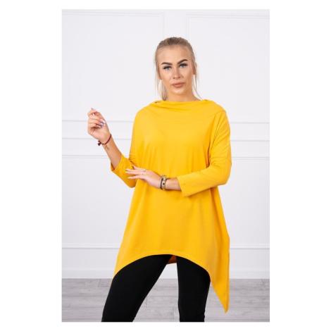 Sweatshirt with a print of wings mustard