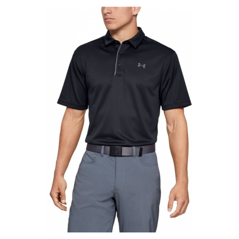 Polo tričko UNDER ARMOUR Tech Polo Black Čierna