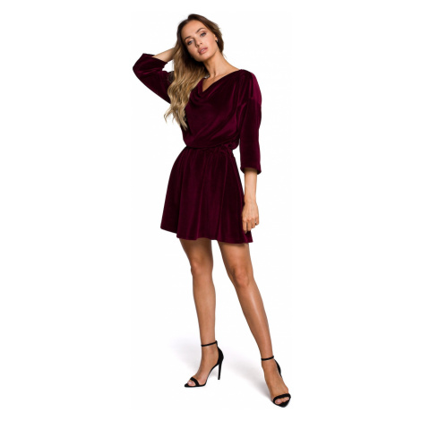 Made Of Emotion Woman's Dress M564 Maroon