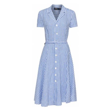 POLO RALPH LAUREN Košeľové šaty  modrá / biela