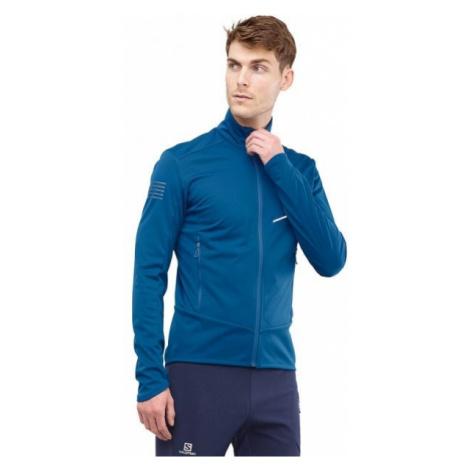Salomon RS SOFTSHELL JKT M modrá - Pánska bunda