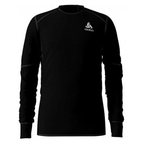 Odlo BL TOP CREW NECK L/S ACTIVE X-WARM KIDS čierna - Detské tričko