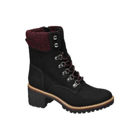 Čierna šnurovacia obuv so zipsom Landrover