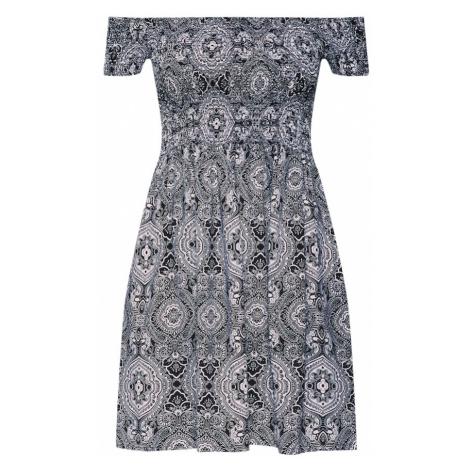 Urban Classics Letné šaty  čierna / biela