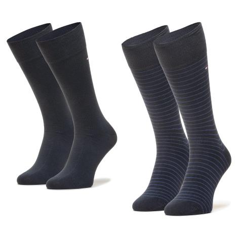 Súprava 2 párov vysokých ponožiek pánskych TOMMY HILFIGER