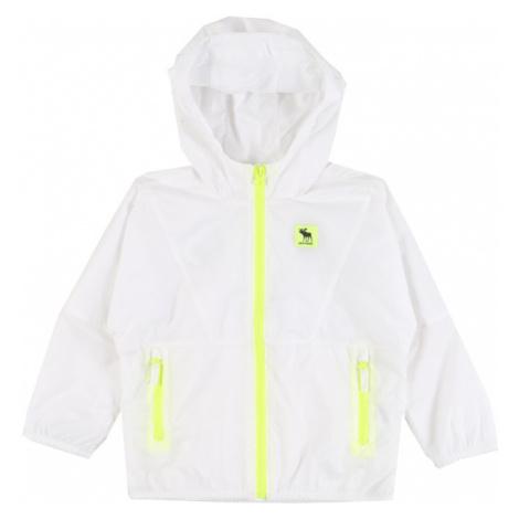 Abercrombie & Fitch Prechodná bunda  neónovo žltá / biela