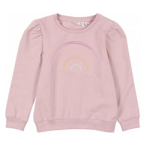 NAME IT Mikina 'TEATE'  fialová / ružová / oranžová / strieborná