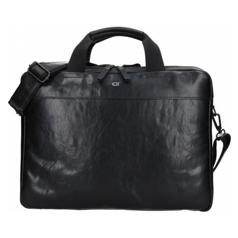 Luxusná pánska kožená taška Daag Martin - čierna