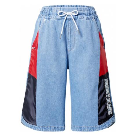 Tommy Jeans Džínsy  svetlomodrá / červená / námornícka modrá / vínovo červená Tommy Hilfiger
