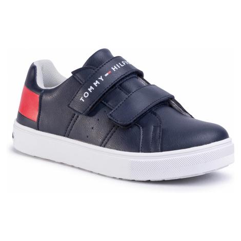 Sneakersy TOMMY HILFIGER - Low Cut Velcro Sneaker T3B4-30719-019 S Blue/White//Red Y004