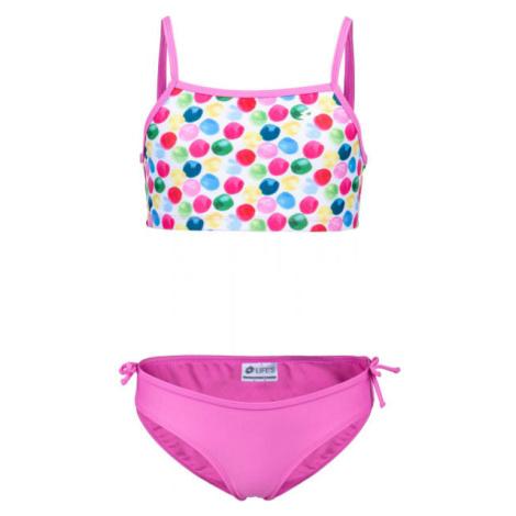 Lotto LYRA ružová - Dievčenské dvojdielne plavky