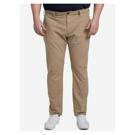 Kalhoty Tom Tailor Hnedá