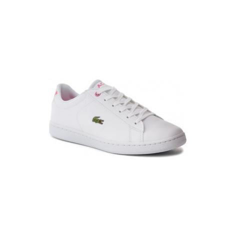 Lacoste Sneakersy Carnaby Evo Bl 2 Suj 7-37SUJ0012B53 Biela