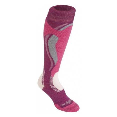 Ponožky Bridgedale Control Fit Midweight Women's 315 berry/pink