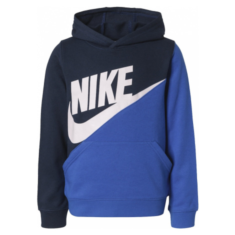 Nike Sportswear Mikina 'Amplify Po'  modrá / námornícka modrá / biela