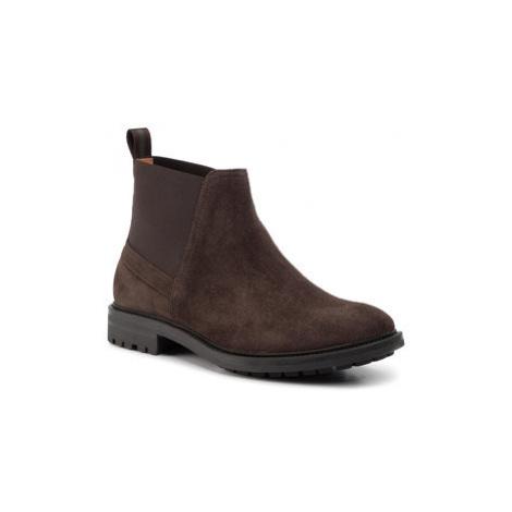 Gino Rossi Členková obuv s elastickým prvkom Ricky MSU383-289-0728-3737-0 Hnedá