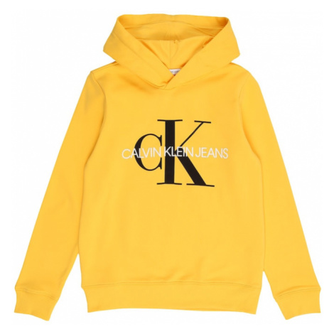 Calvin Klein Jeans Mikina 'MONOGRAM'  žltá